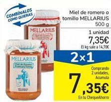 Oferta de Miel de romero o tomillo MELLARIUS por 7,35€