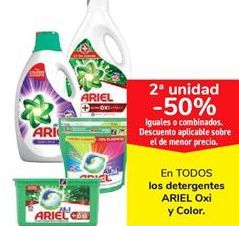Oferta de En TODOS los detergentes ARIEL Oxi y Color  por