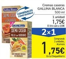 Oferta de Cremas caseras GALLINA BLANCA por 1,75€