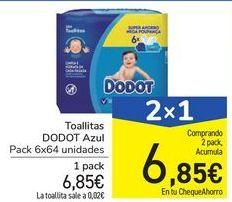 Oferta de Toallitas DODOT Azul por 6,85€
