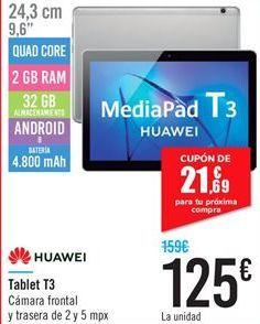 Oferta de Tablet T3 HUAWEI por 125€