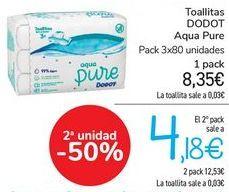 Oferta de Toallitas DODOT Aqua Pure  por 8,35€