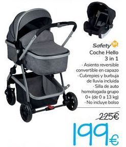 Oferta de Coche Hello 3 in 1 Safety  por 199€