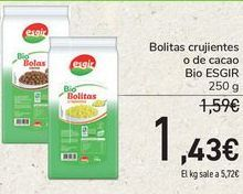 Oferta de Bolitas crujientes o de cacao Bio ESGIR por 1,43€