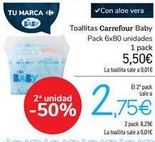 Oferta de Toallitas Carrefour Baby  por 5,5€