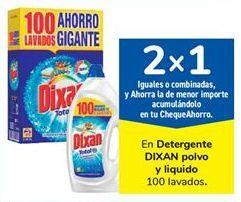 Oferta de En Detergente DIXAN polvo y liquido  por