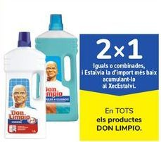 Oferta de En TODOS los productos DON LIMPIO por