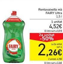 Oferta de Lavavajillas mano FAIRY Ultra  por 4,52€