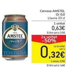Oferta de Cerveza AMSTEL Oro 0,0 por 0,63€