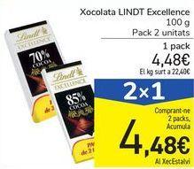 Oferta de Chocolate LINDT Excellence por 4,48€