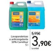 Oferta de Lavaparabrisas o anticongelantes 10% Carrefour  por 3,9€