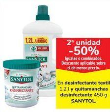 Oferta de En desinfectante textil y quitamanchas desinfectantes SANYTOL  por