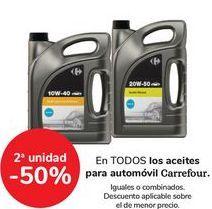 Oferta de En TODOS los aceites para automoóvil Carrefour  por