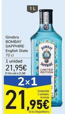 Oferta de Ginebra BOMBAY SAPPHIRE English State por 21,95€