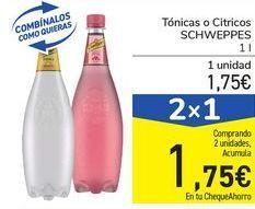 Oferta de Tónicas o Cítricos SCHWEPPES por 1,75€