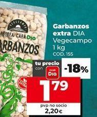 Oferta de Garbanzos por 2,2€