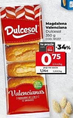 Oferta de Magdalenas Dulcesol por 1,14€