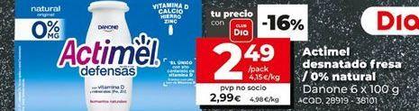 Oferta de Actimel Danone por 2,99€