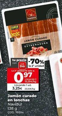 Oferta de Jamón curado Navidul por 3,25€