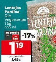 Oferta de Lentejas pardina por 1,45€