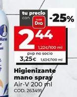 Oferta de Spray limpiador higienizante por 3,25€
