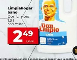 Oferta de Limpiador de baños Don Limpio por 2,49€