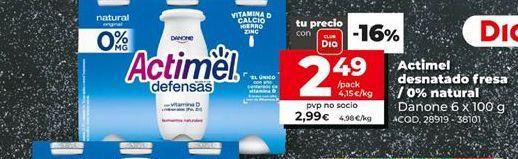 Oferta de Actimel por 2,99€