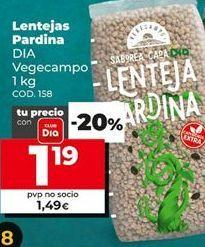 Oferta de Lentejas pardina por 1,19€