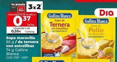 Oferta de Sopa Gallina Blanca por 0,37€