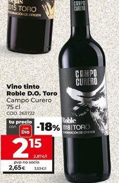 Oferta de Vino tinto Toro por 2,15€