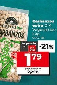 Oferta de Garbanzos por 1,79€