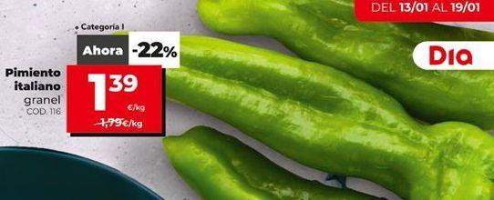 Oferta de Pimientos verdes por 1,39€