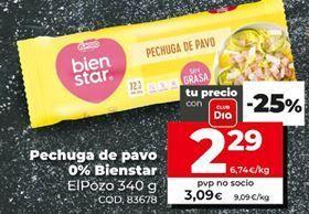 Oferta de Pechuga de pavo por 2,29€