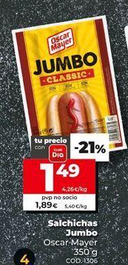 Oferta de Salchichas jumbo Jumbo por 1,49€