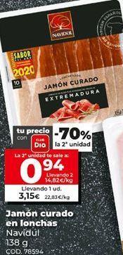 Oferta de Jamón curado Navidul por 0,94€