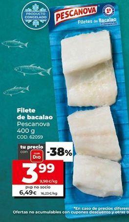 Oferta de Filetes de bacalao Pescanova por 3,99€
