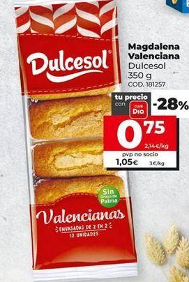 Oferta de Magdalenas Dulcesol por 0,75€