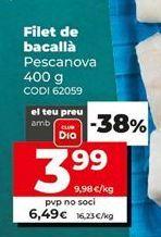 Oferta de Filetes de bacalao Pescanova por 6,49€