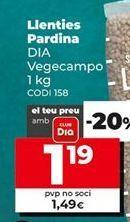 Oferta de Lentejas pardina por 1,49€