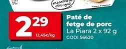 Oferta de Paté de hígado La Piara por 2,29€