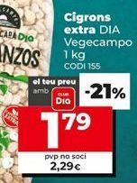 Oferta de Garbanzos por 2,29€