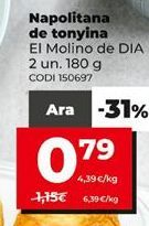 Oferta de Napolitanas por 0,79€