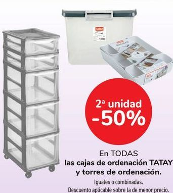 Oferta de En TODAS las cajas de ordenación TATAY y torre de ordenación  por