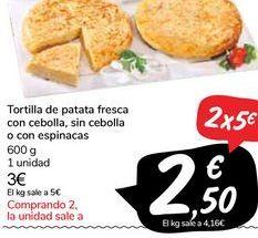 Oferta de Tortilla de patatas por 3€