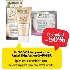 Oferta de En TODOS los productos Facial Skin Active GARNIER, iguales o combinados.  por