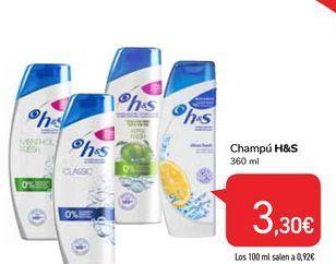 Oferta de Champú h&s por 3,3€