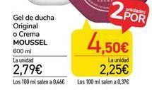 Oferta de Gel de ducha exfoliante Moussel por 2,79€