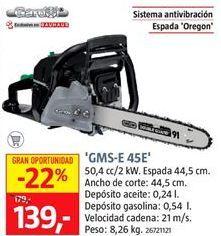 Oferta de Motosierra por 139€