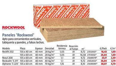 Oferta de Paneles Rockwool por 16,43€