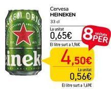 Oferta de Cerveza HEINEKEN  por 0,65€
